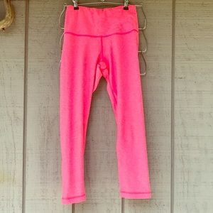 90 DEGREE Neon High Waisted Ruched Crop Yoga Pants